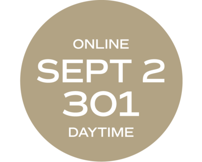 **ONLINE** Relationships & Responsibilities #301 | September 2 – September 11 |   Wed/Fri | 9:00 a.m. – 5:30 p.m.  |  Instructor: Wise