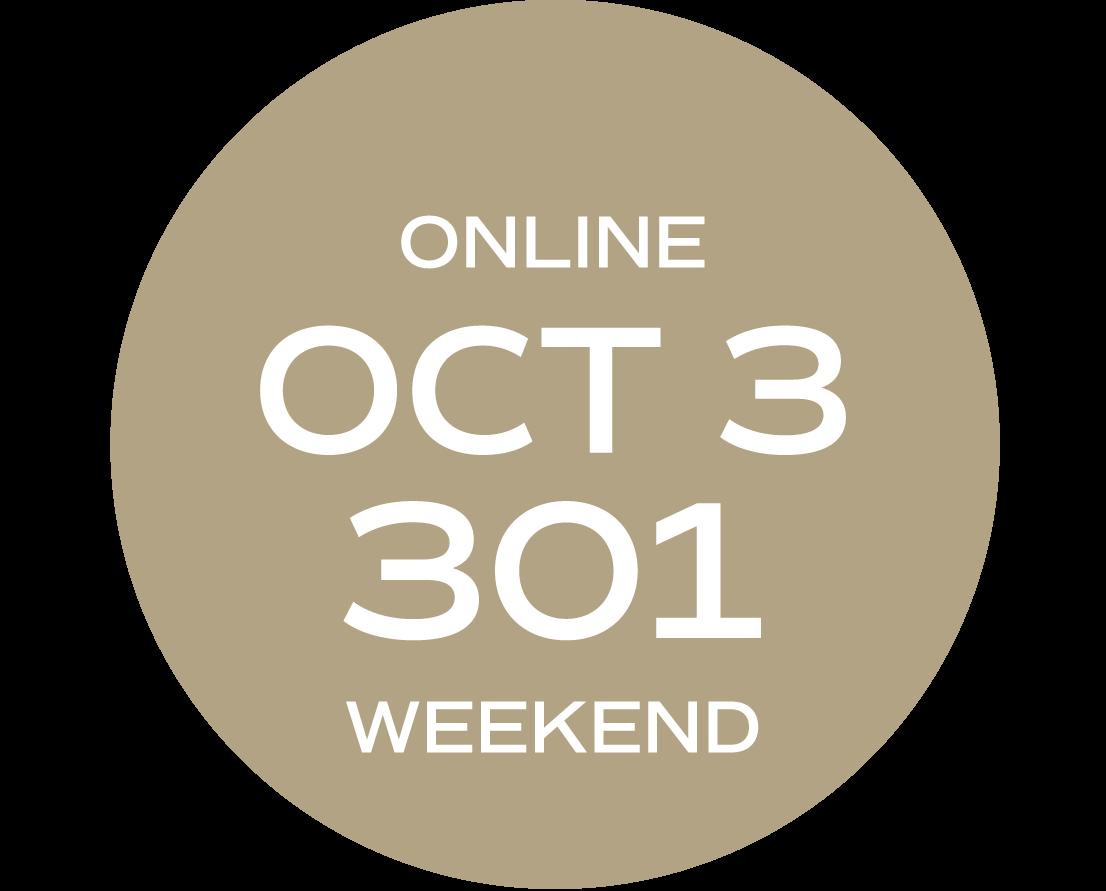 **ONLINE** Relationships & Responsibilities #301 | October 3 – October 11 |   Sat/Sun | 9:00 a.m. – 5:30 p.m.  |  Instructor: Gelleny