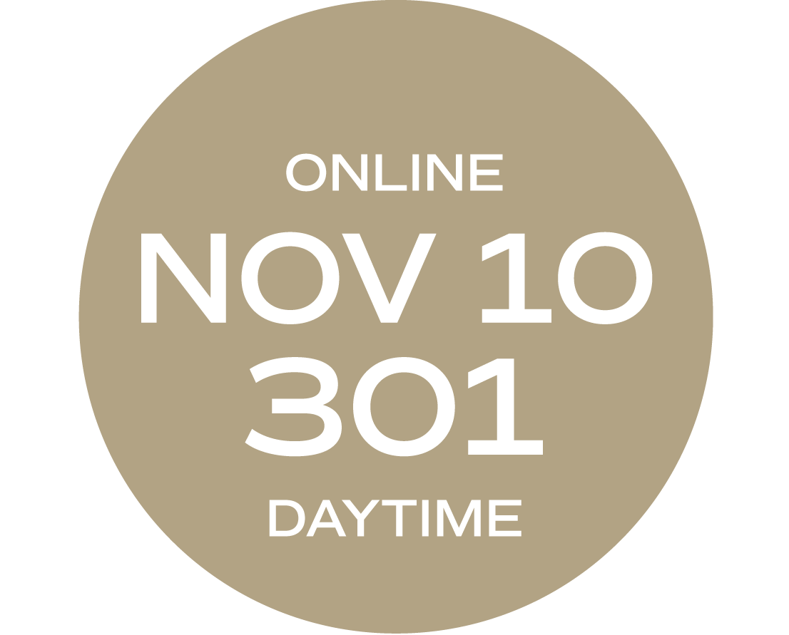 **ONLINE** Relationships & Responsibilities #301   November 10 – November 19     Tues/Thurs   9:00 a.m. – 5:30 p.m.     Instructor: Wise