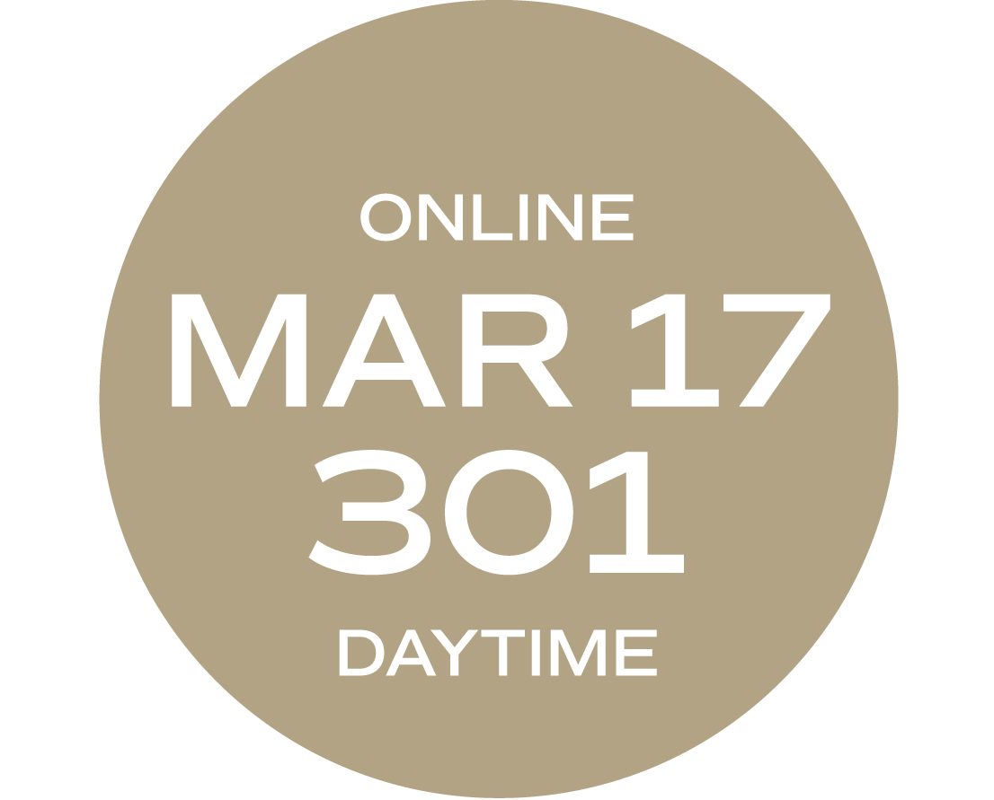 **ONLINE** Relationships & Responsibilities #301   March 17 - March 25   Wed/Thurs   9:00 a.m. – 5:30 p.m.     Instructor: Michelle Melvin