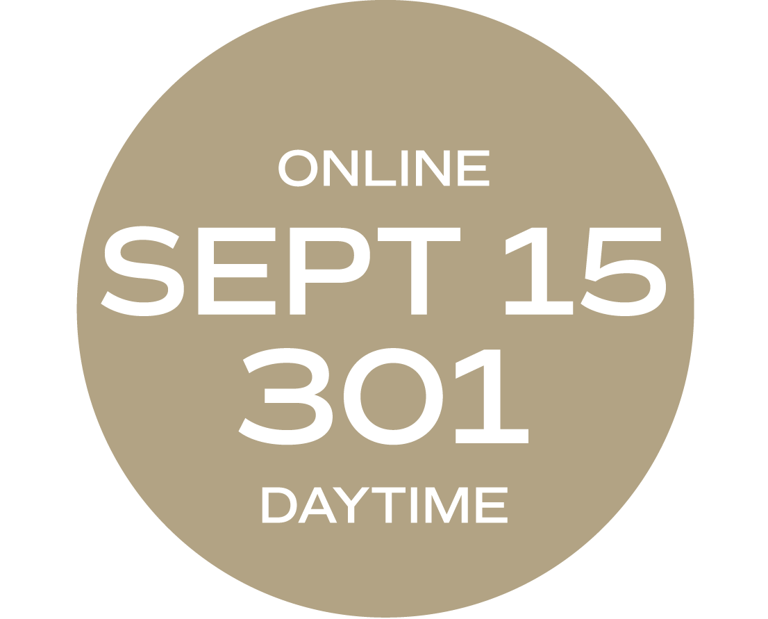 **ONLINE** Relationships & Responsibilities #301 | September 15 - September 23 | Wed/Thurs | 9:00 a.m. – 5:30 p.m.  |  Instructor: Michelle Melvin