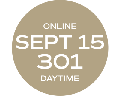 **ONLINE** Relationships & Responsibilities #301 | September 15 - September 23 | Wed/Thurs | 9:00 a.m. – 5:30 p.m.  |  Instructor: Michelle Melvin