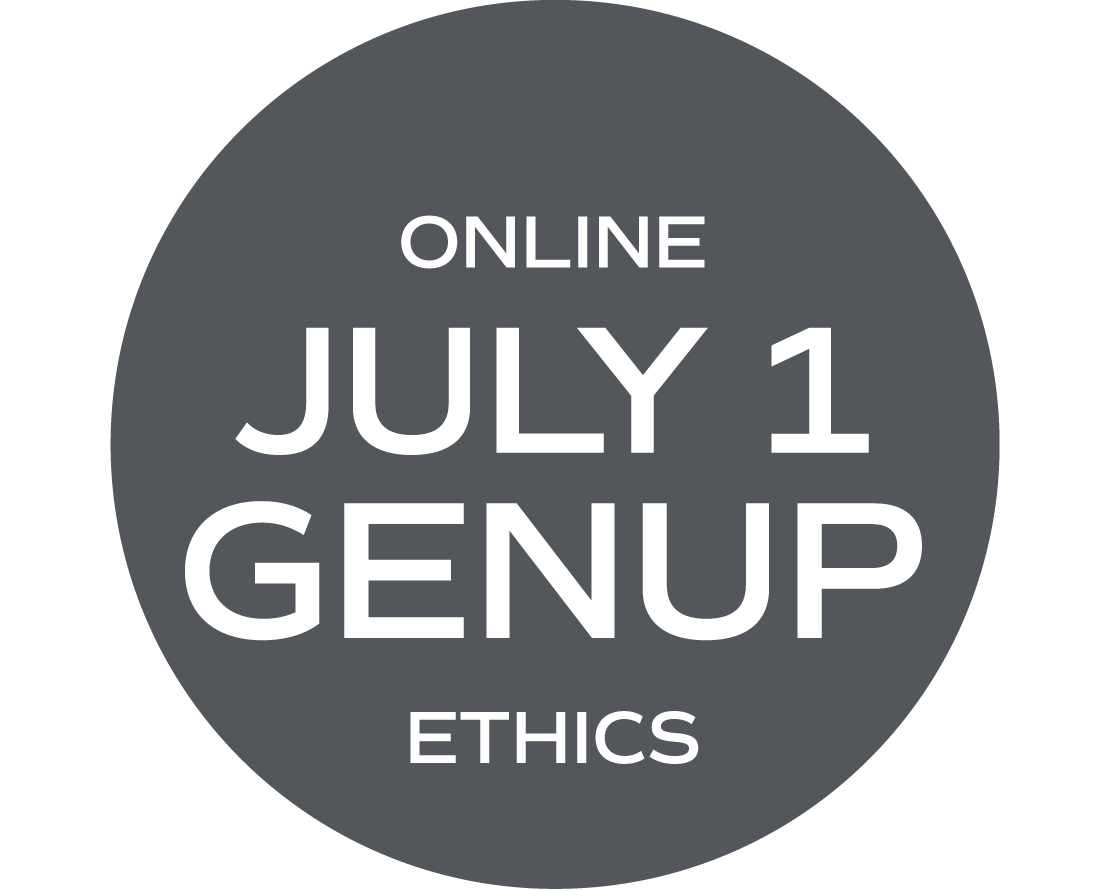 ** ONLINE ** GENUP and/or Ethics Elective (What Would Your Mama Say?) - July 1 - Thursday