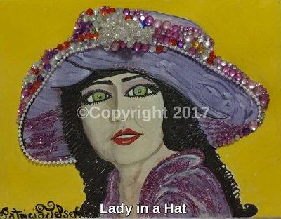 Lady in Fancy Hat