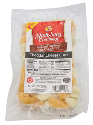 HICKORY SMOKED Cheddar Cheese Curd (MIXED)