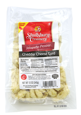 Cheddar Cheese Curd (JALAPEÑO)