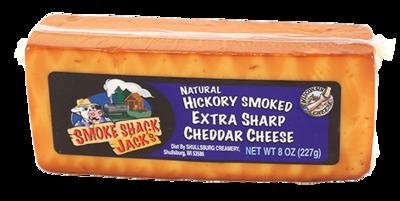 """SMOKE SHACK JACK'S"" - SMOKED EXTRA SHARP CHEDDAR 8oz."