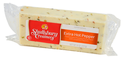 EXTRA HOT PEPPER CHEESE 8oz.