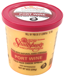 Port Wine Cheese Spread (Cold Pack) 8oz.