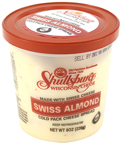 Swiss Almond Cheese Spread (Cold Pack) 8oz.