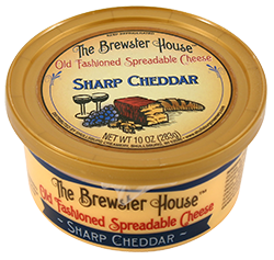 Our Famous Brewster House Spread - Sharp Cheddar 10oz.