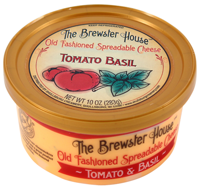 Our Famous Brewster House Spread - Tomato & Basil 10oz.