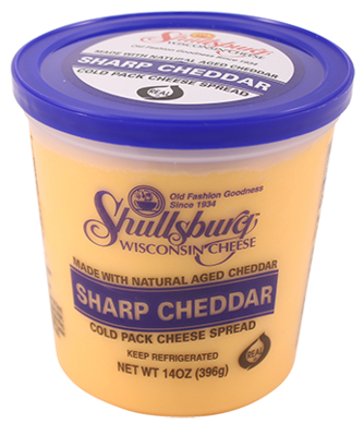 Sharp Cheddar Cheese Spread (Cold Pack) 14oz.