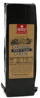 10 YEAR AGED! CHEDDAR - Aged 10 Years (by pound)