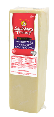 VERMONT WHITE SHARP CHEDDAR - Aged 9 Months or More! (by pound)