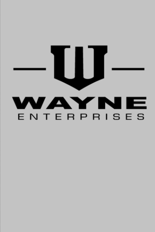 Wayne Enterprises (Batman Bruce Wayne) Luxury Lined Journal - Diary Notebook The Batman [GRAY]