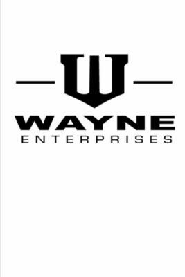Wayne Enterprises (Batman Bruce Wayne) Luxury Lined Journal - Diary Notebook The Batman [WHITE]