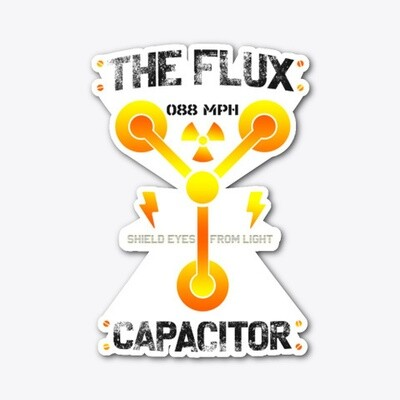 The Flux Capacitor [Back to the Future] Die-cut Vinyl Sticker [5 INCHES]