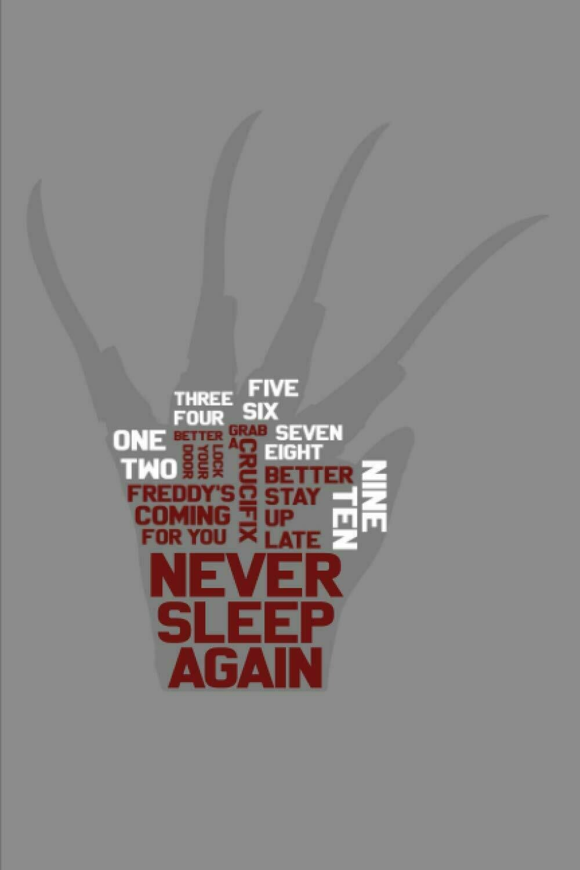 Freddy Krueger Dream Journal (A Nightmare on Elm Street) Luxury Lined Notebook - Diary Book Horror Movie Prop Replica Freddy's Song