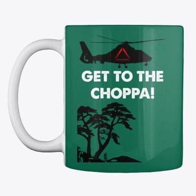 GET TO THE CHOPPA! (Predator / Schwarzenegger) Coffee Mug Movie Prop