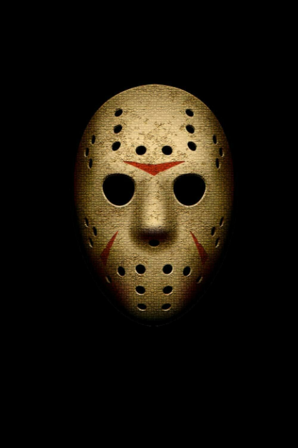 Hockey Mask Killer (FRIDAY THE 13TH / JASON VOORHEES) Luxury Lined Notebook - Journal Diary Writing Paper Note Pad Movie Prop Horror