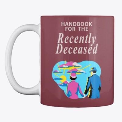 Handbook for the Recently Deceased (Beetlejuice) Ceramic coffee Cup Mug [CHOOSE COLOR]