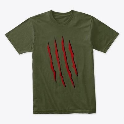 Freddy Krueger Slash (A Nightmare on Elm Street) Men's Premium T-Shirt [CHOOSE COLOR] [CHOOSE SIZE]
