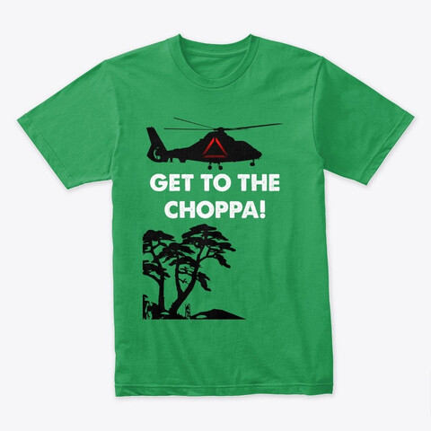 GET TO THE CHOPPA! (Predator / Schwarzenegger) Movie Prop Replica - Men's Premium T-Shirt [CHOOSE COLOR] [CHOOSE SIZE]