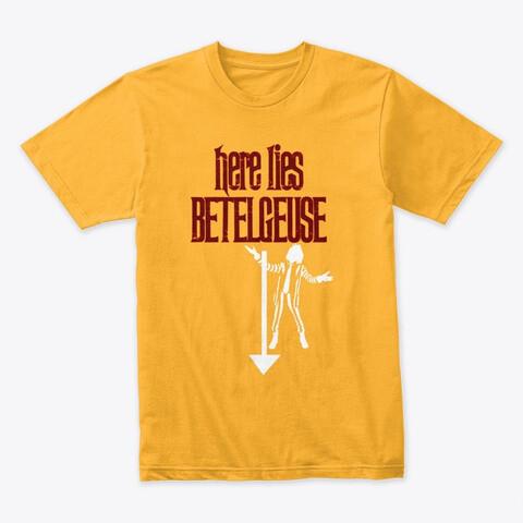 Here Lies Betelguese (BEETLEJUICE) Movie Prop Replica Tim Burton Michael Keaton - Men's Premium T-Shirt [CHOOSE COLOR] [CHOOSE SIZE]