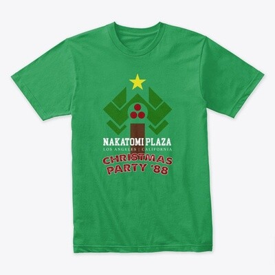 Nakatomi Plaza Christmas Party '88 (Die Hard) Men's Premium Cotton T-Shirt [CHOOSE COLOR] [CHOOSE SIZE]