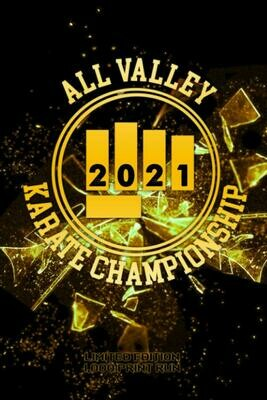 All Valley Karate Championship 2021 [LIMITED TO 1,000 PRINT RUN] (Cobra Kai / Karate Kid / Miyagi Do) Luxury Lined Journal Notebook Notepad Book ... MMA Martial Arts Movie Prop Replica Netflix