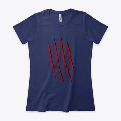 Freddy Krueger Slash (A Nightmare on Elm Street) Women's Fitted T-Shirt [CHOOSE COOOR] [CHOOSE SIZE]