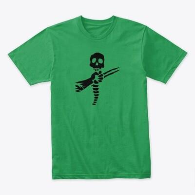 Skull and Spine (PREDATOR) Men's Premium T-Shirt [CHOOSE COLOR] [CHOOSE SIZE]