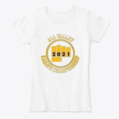 All Valley Karate Championship 2021 (Cobra Kai) Women's Premium Comfort T-Shirt [CHOOSE COLOR] [CHOOSE SIZE]