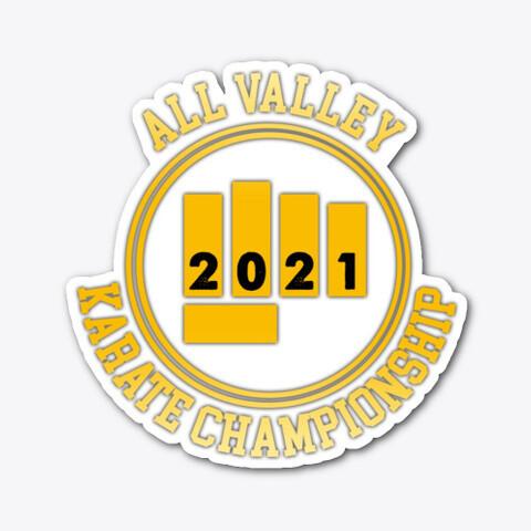 All Valley Karate Championship 2021 - Vinyl Sticker