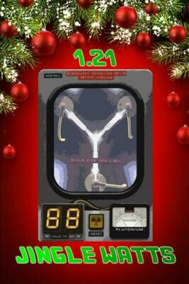 Great Scott! 1.21 JINGLE WATTS! (Back to the Future) Luxury Lined Notebook - Journal Diary Writing Paper Note Pad Book Movie Prop Replica 1.21 Gigawatts BTTF Flux Capacitor Christmas