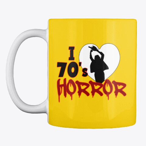 I Love 70s Horror Ceramic Coffee Cup Mug [CHOOSE COLOR] [CHOOSE SIZE]