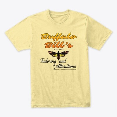 Buffalo Bill's Tailoring and Alterations (SILENCE OF THE LAMBS) Men's Premium T-Shirt [CHOOSE COLOR] [CHOOSE SIZE]