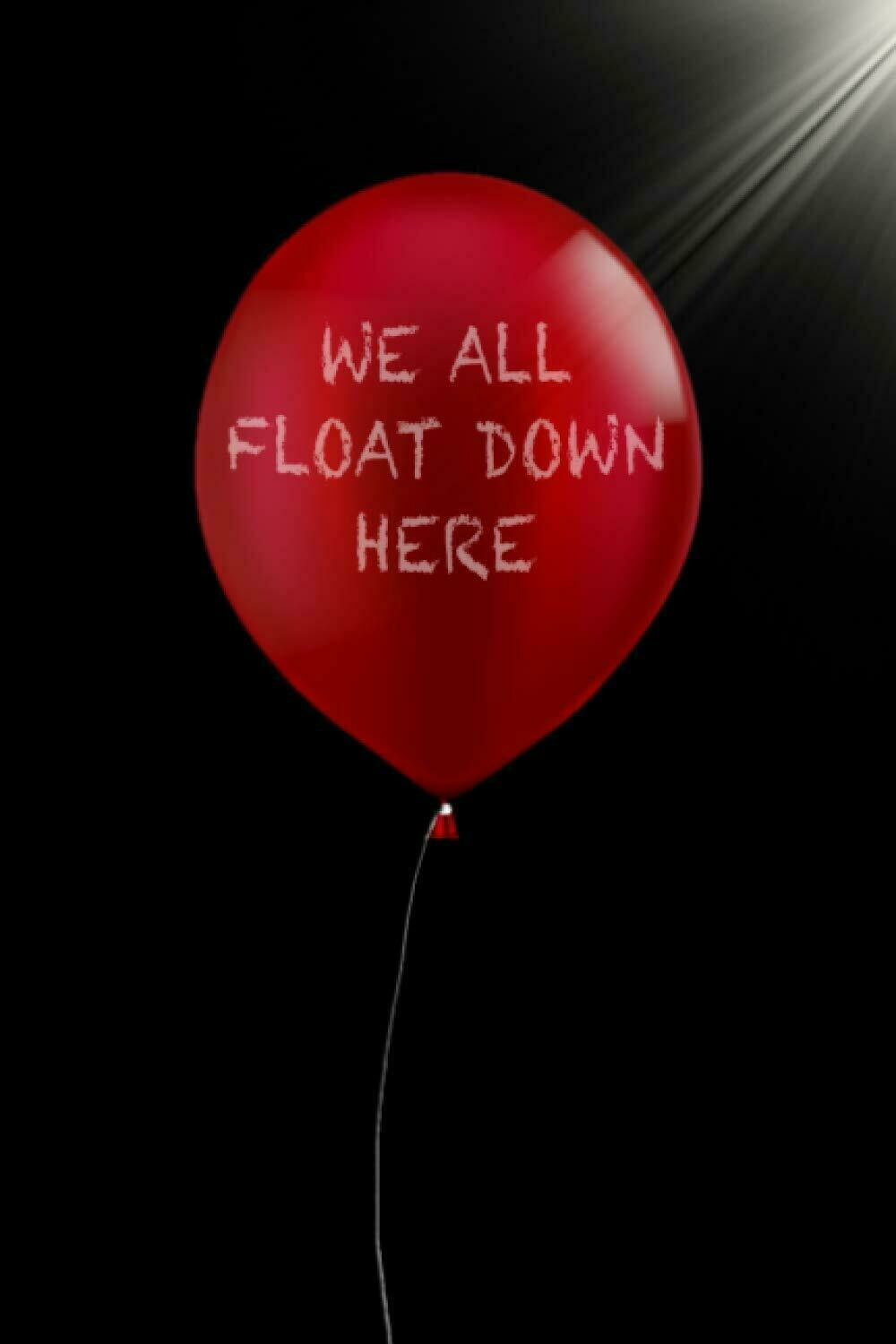 We All Float Down Here (IT / Stephen King) Luxury Lined Notebook - Journal Diary Writing Paper Note Pad Book Horror Movie Replica Red Balloon