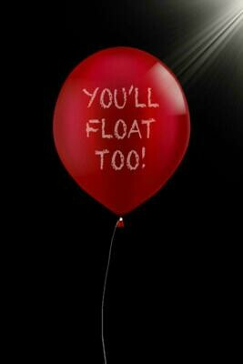 You'll Float Too (IT / Stephen King) Luxury Lined Notebook - Journal Diary Writing Paper Note Pad Book Horror Movie Replica Red Balloon