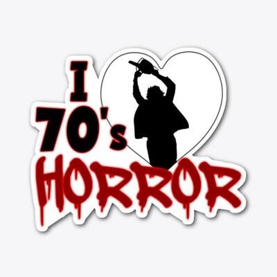 I Love 70s Horror Vinyl Sticker [5 INCHES]