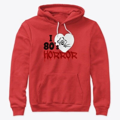 I Love 80's Horror Unisex Premium Hoody [CHOOSE COLOR] [CHOOSE SIZE]