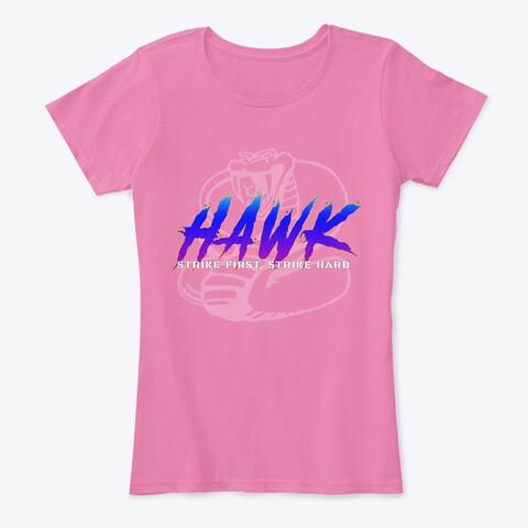 HAWK (Cobra Kai) Women's Premium Cotton Comfort T-Shirt [CHOOSE COLOR] [CHOOSE SIZE]