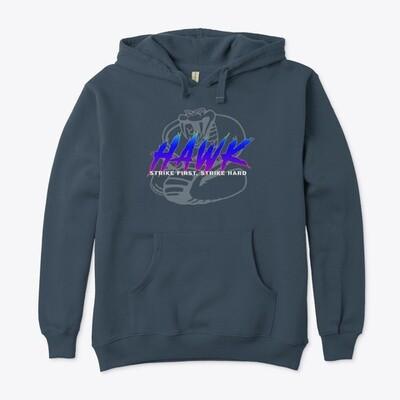 HAWK (Cobra Kai) Unisex Premium Eco Pullover Hoody [CHOOSE COLOR] [CHOOSE SIZE]