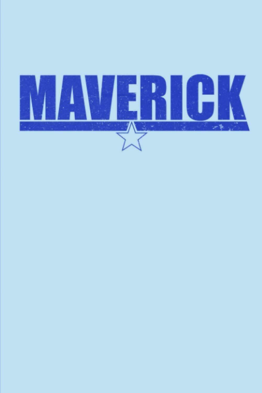 Maverick (TOP GUN) Luxury Lined Notebook Journal Diary Notepad Book Movie Prop