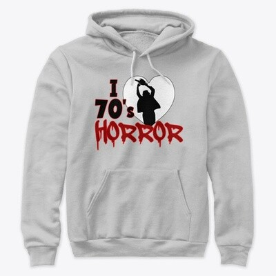 I Love 70s Horror Unisex Premium PulloverHoody [CHOOSE COLOR] [CHOOSE SIZE]