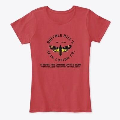 Buffalo Bill's Skin Lotion Co. (SILENCE OF THE LAMBS) Women's Premium Comfort T-Shirt [CHOOSE COLOR] [CHOOSE SIZE]