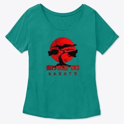 Miyagi Do Karate (COBRA KAI / THE KARATE KID) Women's Premium Slouchy T-Shirt [CHOOSE COLOR]