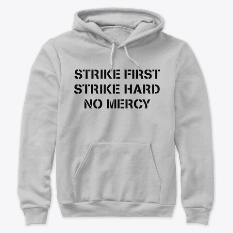 STRIKE FIRST STRIKE HARD NO MERCY (Cobra Kai / Karate Kid) Unisex Premium Pullover Hoody [CHOOSE COLOR] [CHOOSE SIZE]