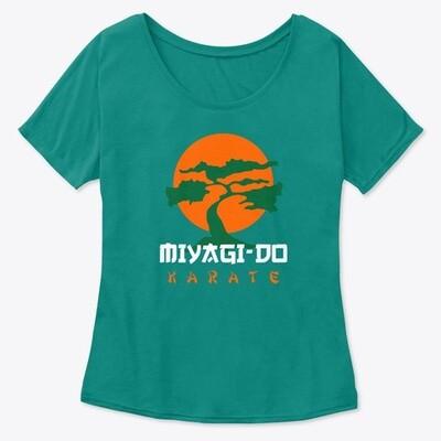 Miyagi Do Karate (Cobra Kai / Karate Kid) Women's Premium Slouchy T-Shirt [CHOOSE COLOR] [CHOOSE SIZE]